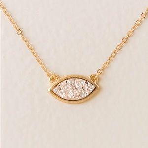 Rosaleen Marquis Druzy Pendant-Gold